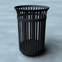 3ds trashcan bin