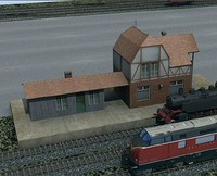 train station 3d 3ds