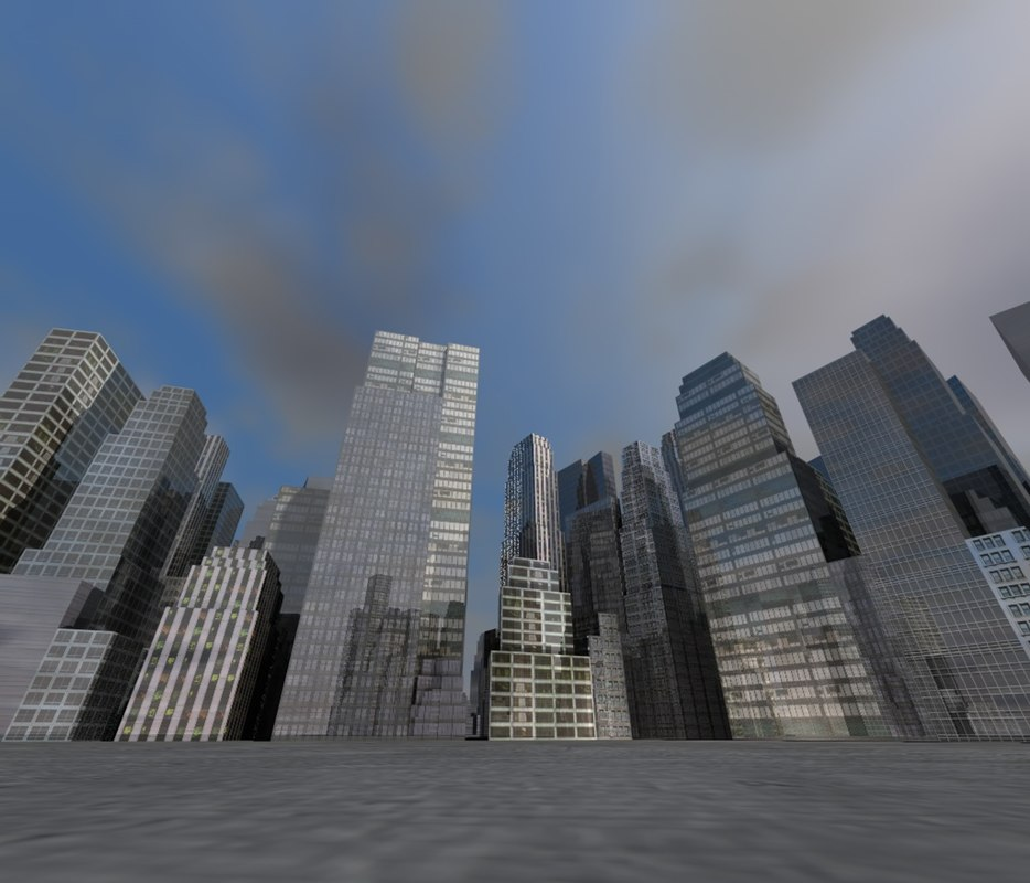 3d city town