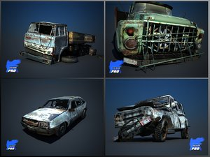 wreak car ii 3d model