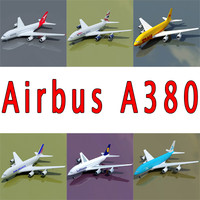 Airbus with 6 Airline Textures