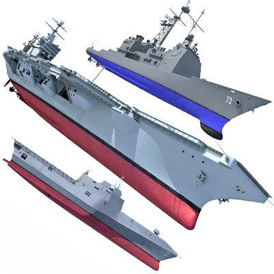 3d max navy ship