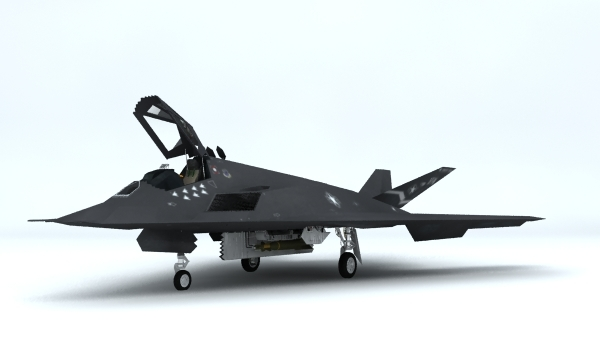 f-117 stealth 3d model