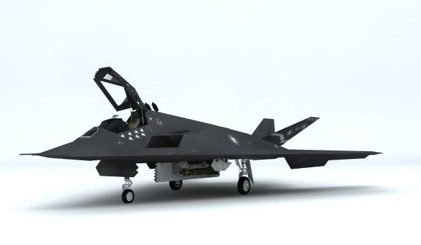 f-117 stealth 3d model