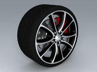 wheel tire 3ds