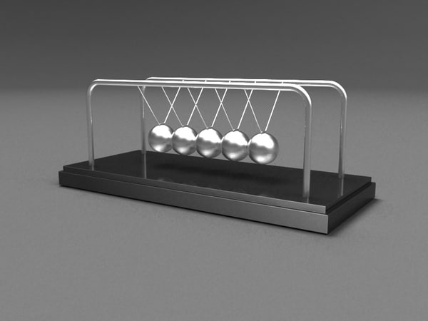animation newtons materials 3d model