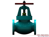 3d model of valve marine jis