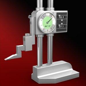 height gauge 3d model