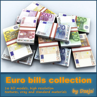 euro bills collection