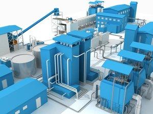 3d sugar factory model