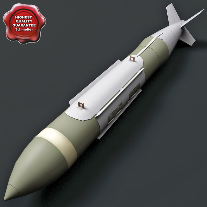 aircraft bomb gbu-31 jdam 3d model