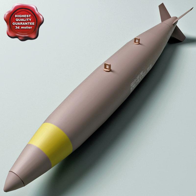 aircraft bomb mk-83 conical 3d model