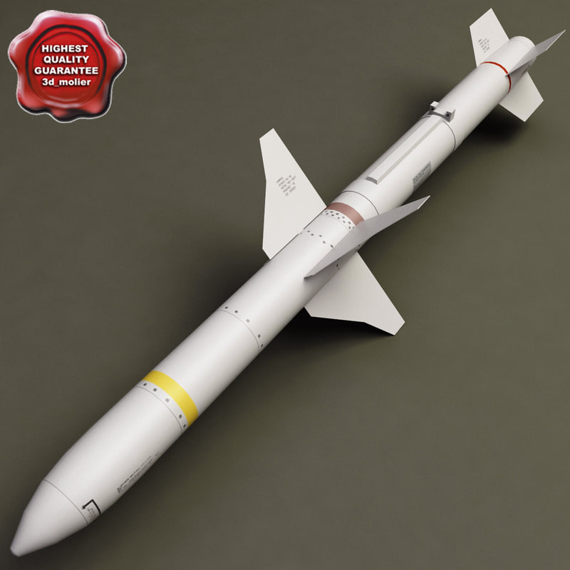 aircraft missile agm-88 harm 3d model