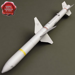 aircraft missile agm-88 harm 3d model