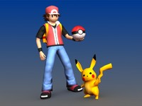 Ash and Pikachu - Pokemon Characters