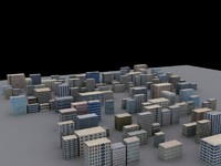 buildings block 3d model