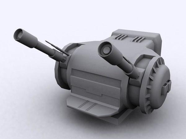 free dby-827 heavy dual turbo 3d model