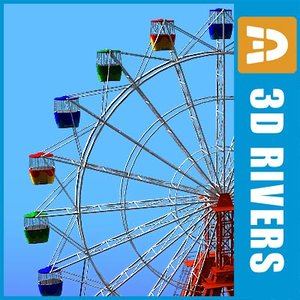 ferris wheel amusement park 3d model