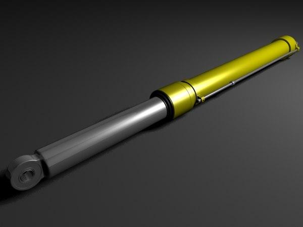 hydraulic cylinder 3d max