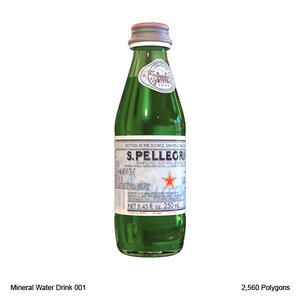 3d model mineral water