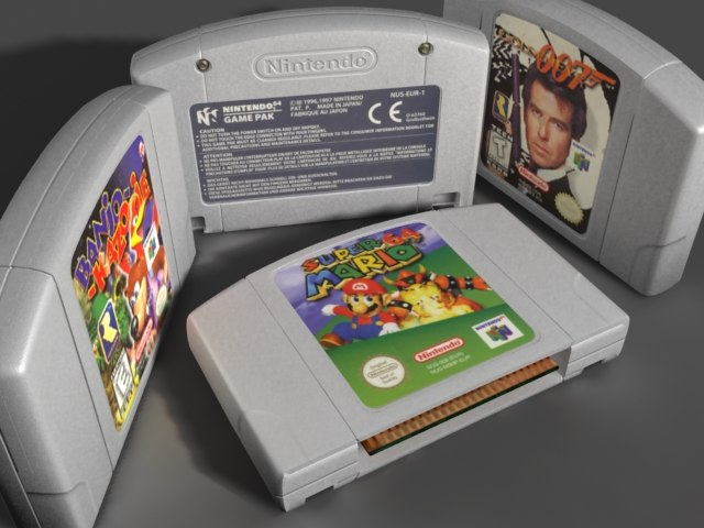 3d nintendo 64 cartridge cart