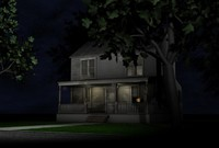 c4d old halloween house
