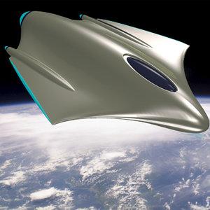 alien spaceship 3d 3ds