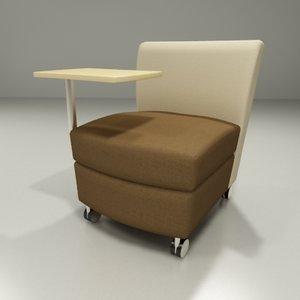 3d model of serafina modular series chair