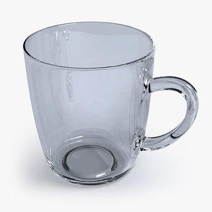 coffee glass mug 3d model