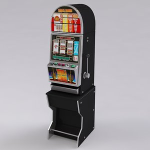 slot machine 3d model