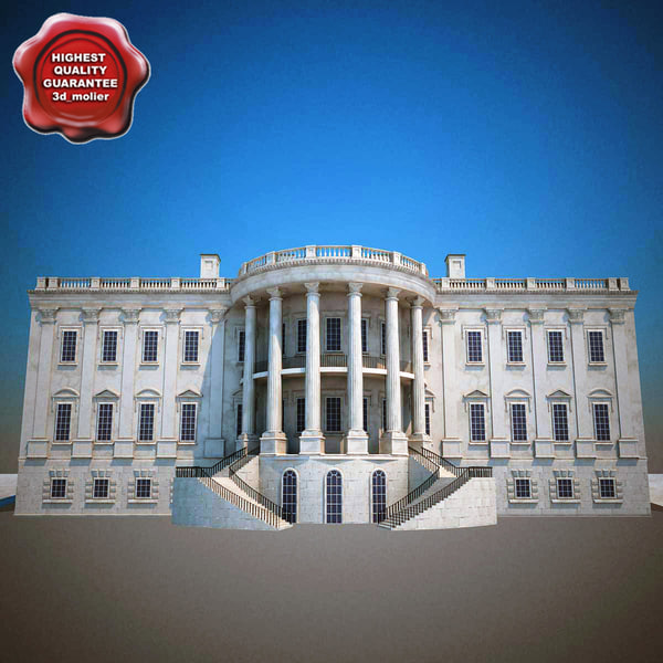 3ds max white house