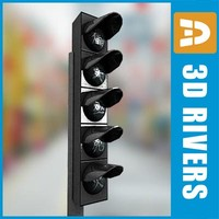 chinese traffic lights 3d max
