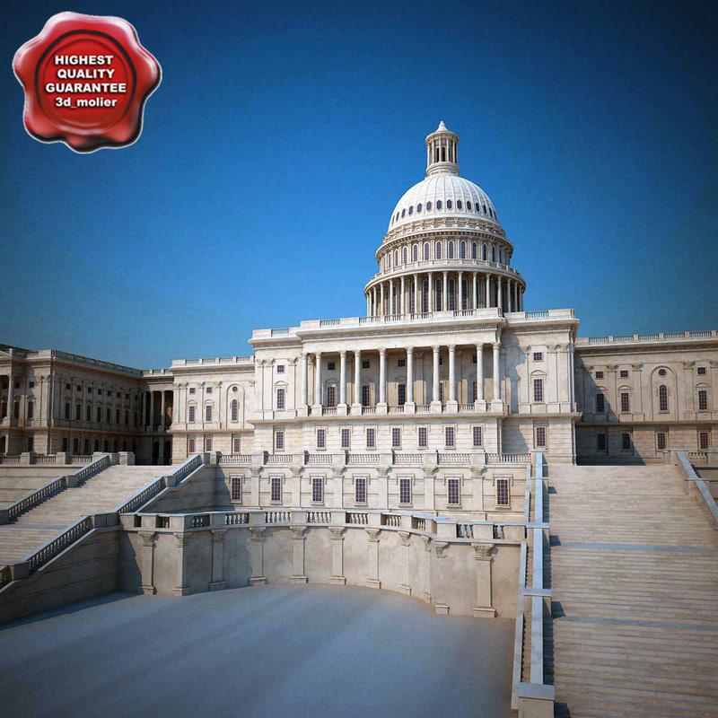 united states capitol 3d model