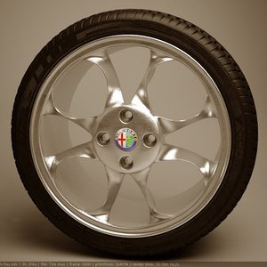 wheel yokohama tyre 3d 3ds