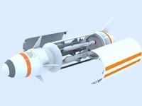 missile 3d model