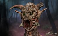 3d model demon bust