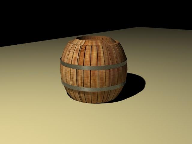 barrel external landscape 3d max