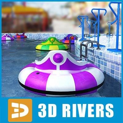 bumper boats 3d max