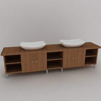 bathroom sink 3d obj