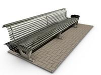 3d model bench plastic bag