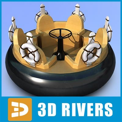 3ds max boat river rafting ride