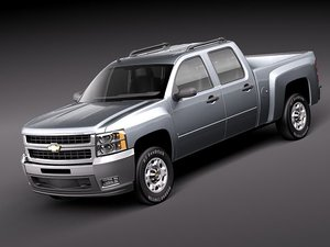 3d model chevrolet silverado pickup truck