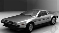 delorean car 3d model