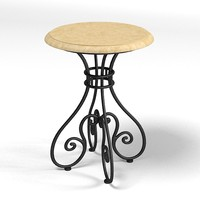 hickory white  side table 133-21 iron counrty traditional forged