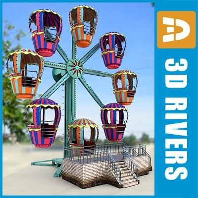 3d model small ferris wheel
