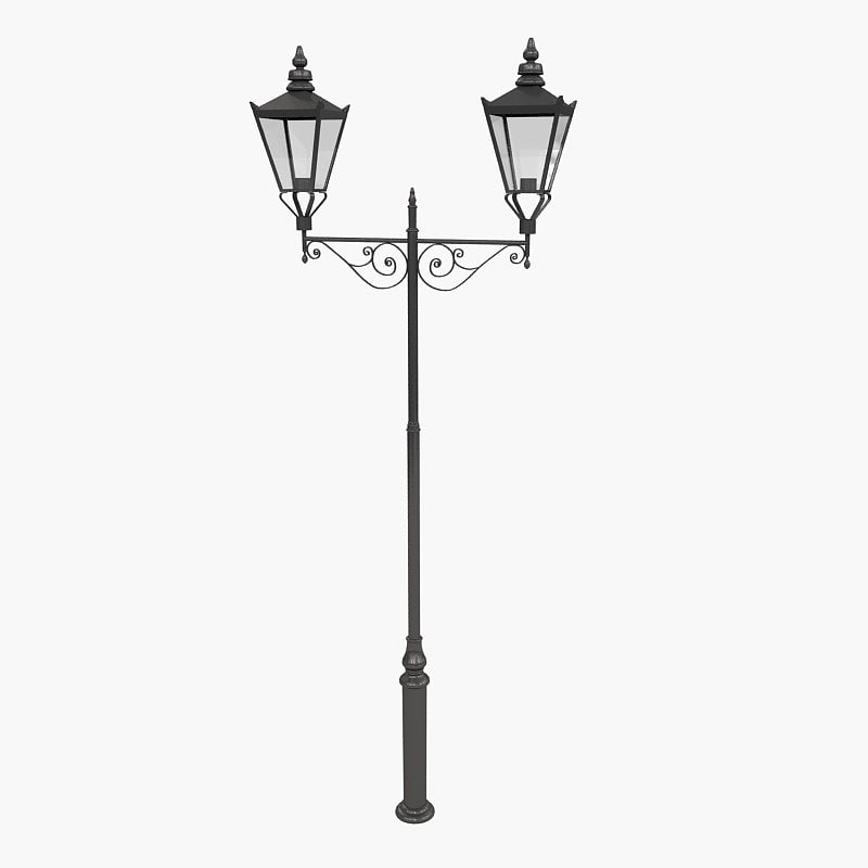 3d model lamp exterior precinct cl65-16