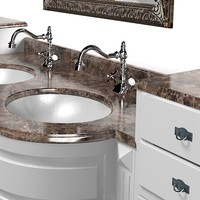 lineatre silver classic bathroom washing  sink furniture vanity tap collection 11 set