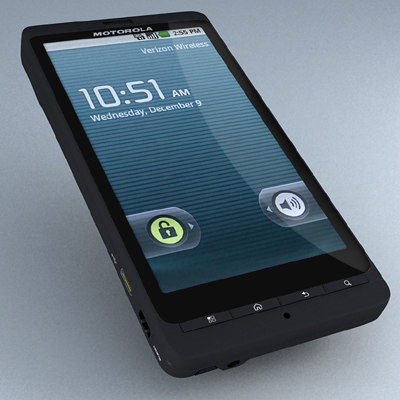 motorola droid x 3d model