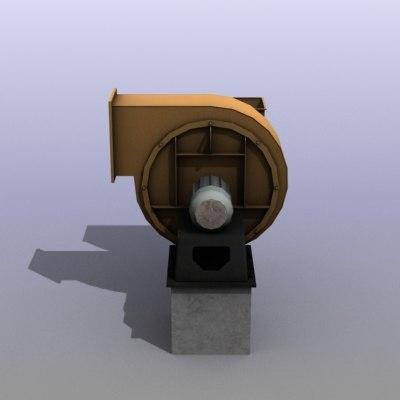 low-poly ventilation engine 3d max