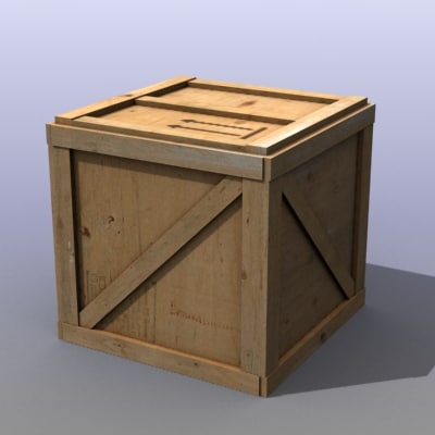 old wooden boxes 3d max